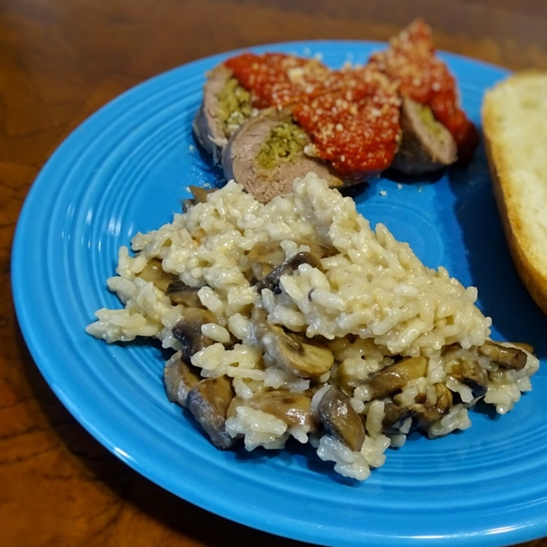 Mushroom Marsala risotto rice